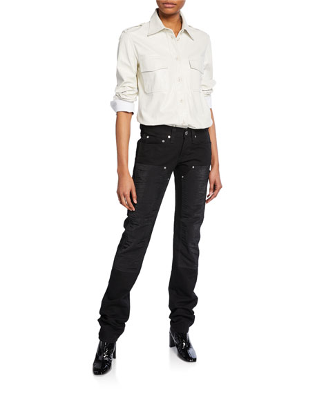 Helmut Lang Masc Lo Utility Straight-Leg Jeans