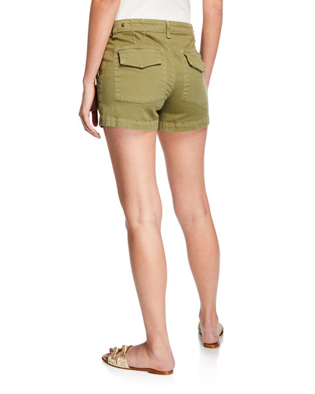 Veronica Beard Caine Utility Shorts w/ Waist Tabs