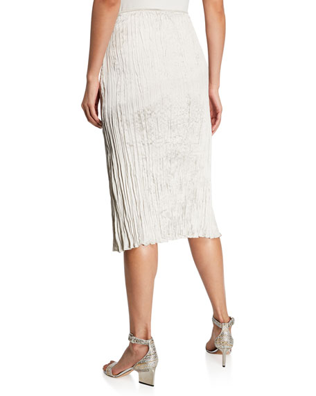 Eileen Fisher Crinkle Silk Charmeuse Skirt