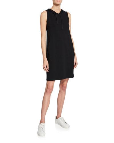 Hooded Sleeveless Cotton Jersey Dress