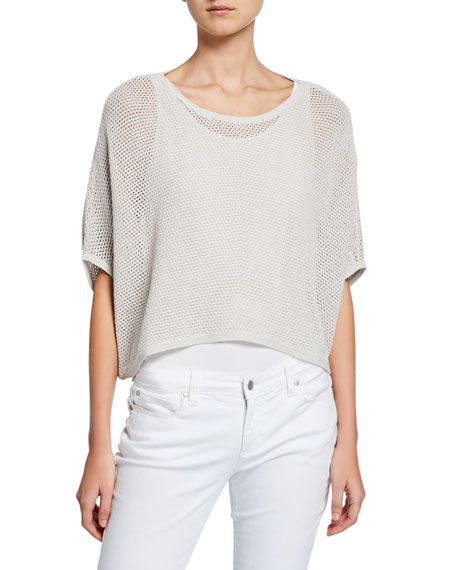 Eileen Fisher Sweaters OVERSIZED CROPPED SWEATER