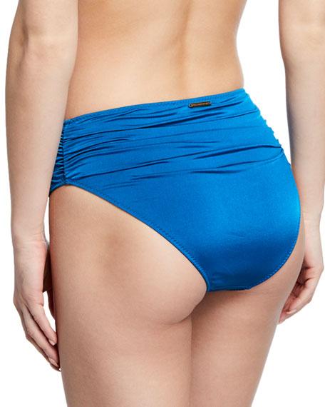 Stella McCartney Ballet Draped High-Waist Bikini Bottom