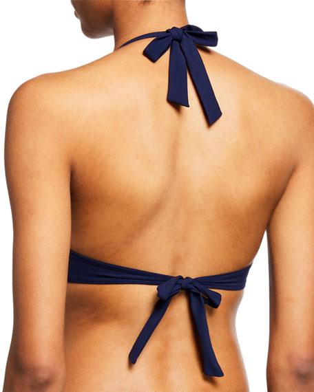 Tory Burch Gemini Link Halter Bikini Top