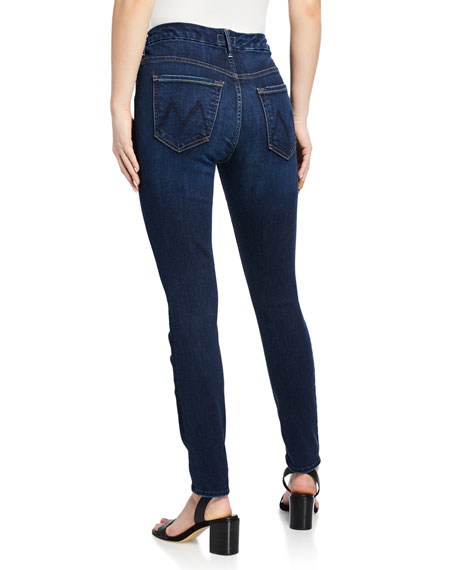MOTHER The High-Waisted Looker Ankle Skinny Jeans