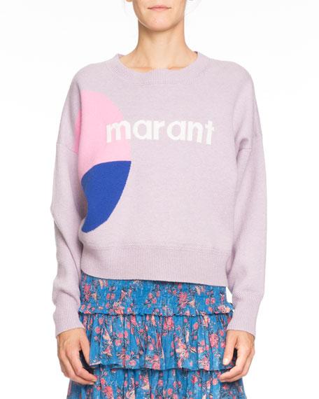 Etoile Isabel Marant Korbin Wool-Blend Logo Pullover Sweater