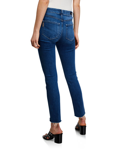 PAIGE Hoxton Ankle-Split Skinny Jeans with Double Buttons