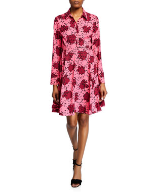 bf63dbe1ec3d kate spade new york bubble dot long-sleeve smocked dress