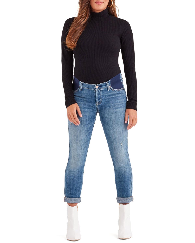 f58f957e3657e 7 for all mankind Josefina Straight-Leg Boyfriend Maternity Jeans ...