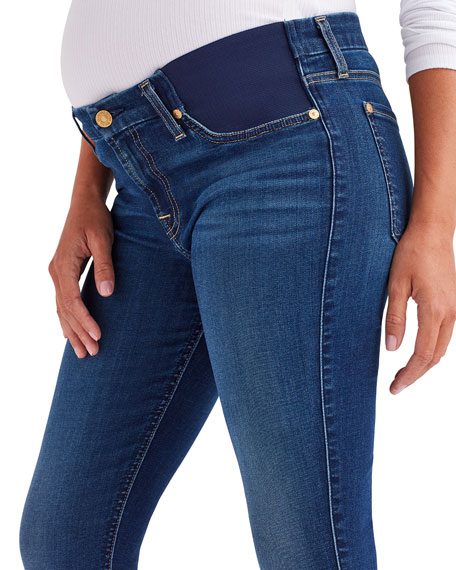 7 For All Mankind Ankle Skinny Mid-Rise Maternity Jeans