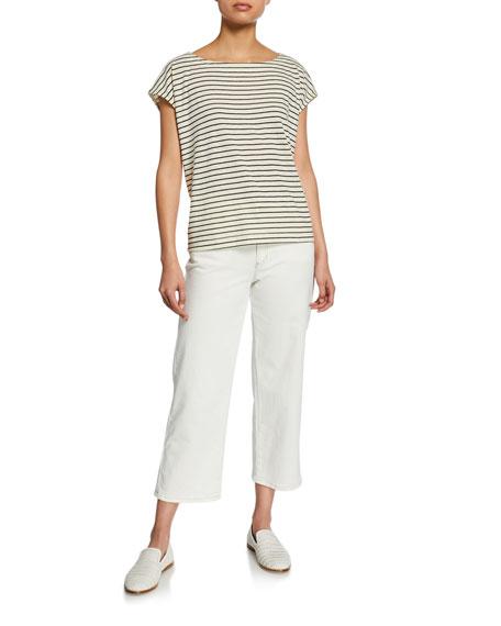 Eileen Fisher Straight-Leg Crop Denim Jeans