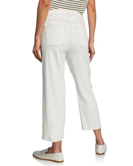 Eileen Fisher Plus Size Straight-Leg Crop Denim Jeans