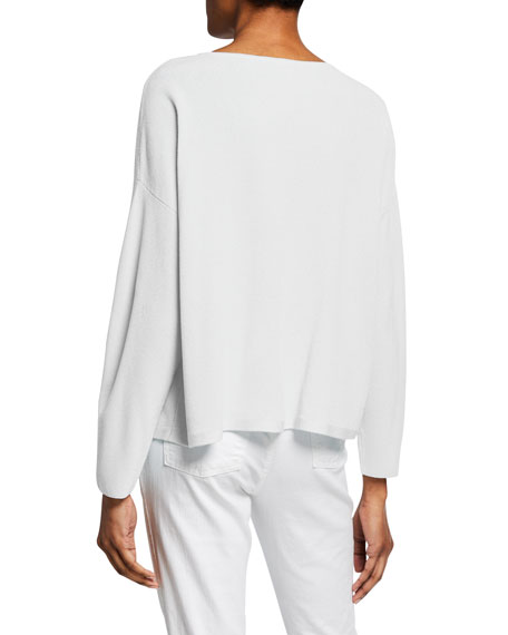 Image 2 of 2: Eileen Fisher Plus Size Jewel-Neck Long-Sleeve Top