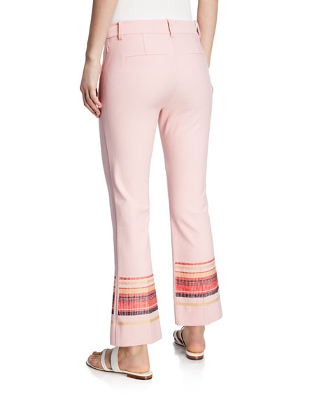 Derek Lam 10 Crosby Embroidered Cropped Flare Trousers