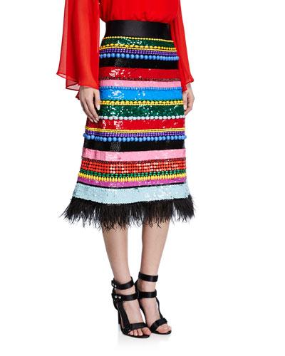 Merril Embellished Midi Skirt