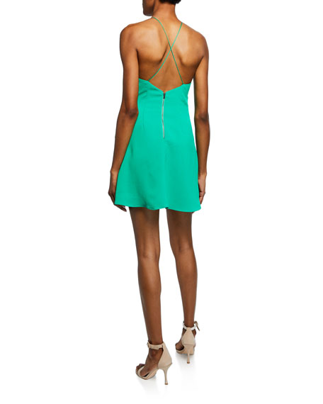 Alice Olivia Katie Tie Wrap Mini Dress Neiman Marcus