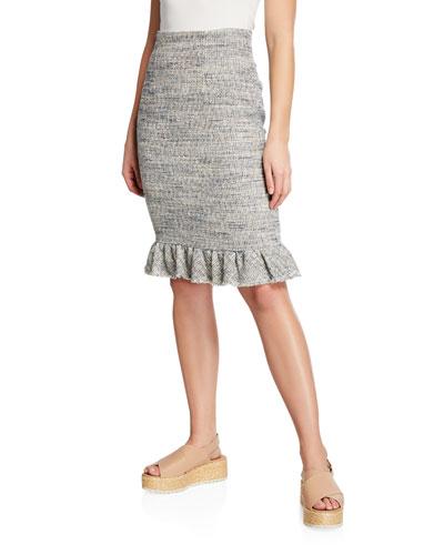 Tweed Ruffle Skirt