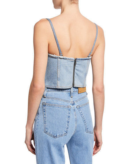 RE/DONE Denim Bustier w/ Removable Straps