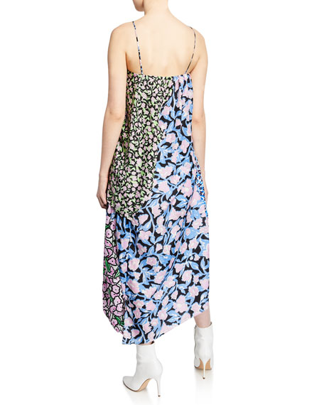 Christian Wijnants Dev Asymmetric Patchwork Dress