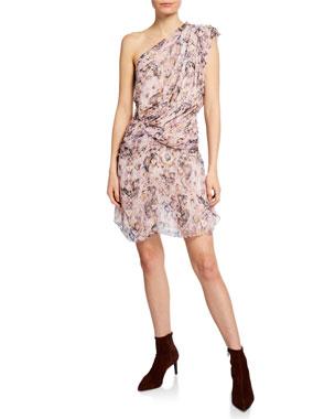 2191ca27982 Iro Freesia Gathered One-Shoulder Silk Dress
