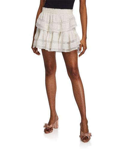 Ruffle Mini Skirt w/ Lace
