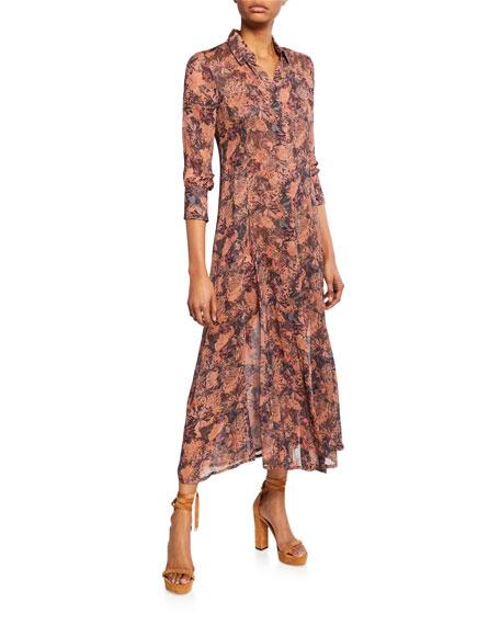 Iro Maddie Printed 3/4-Sleeve Shirt Dress