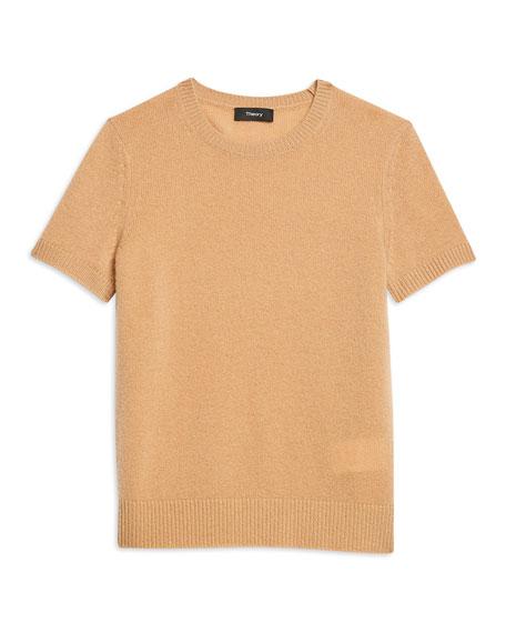Theory Basic Short-Sleeve Cashmere Tee