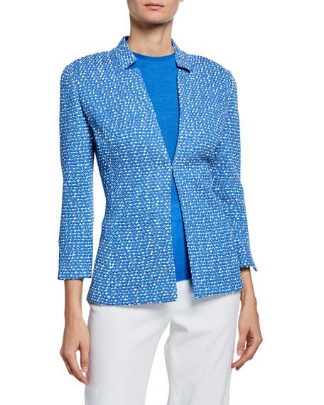 St. John Collection Engineered Coastal Texture Tweed Knit Jacket