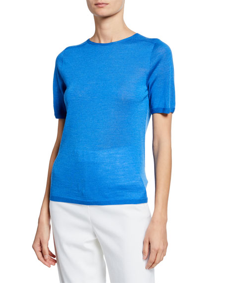 St. John Collection Jersey Knit Wool/Silk Top