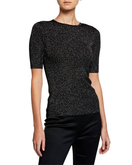 St. John Collection Sparkle Rib Knit Top