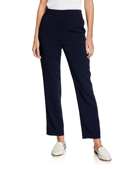 St. John Collection Cady Mid-Rise Cropped Ankle Pants