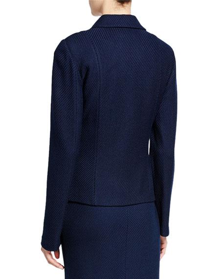 St. John Collection Sarga Knit Notched Lapel Jacket