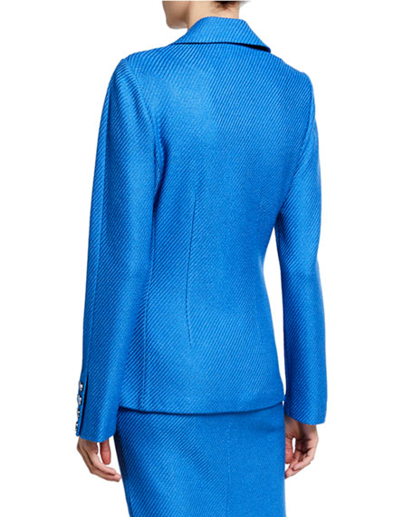 St. John Collection Sarga Knit Peak-Lapel Jacket