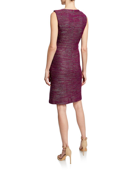 St. John Collection Sheath Ombre Ribbon Tweed Dress