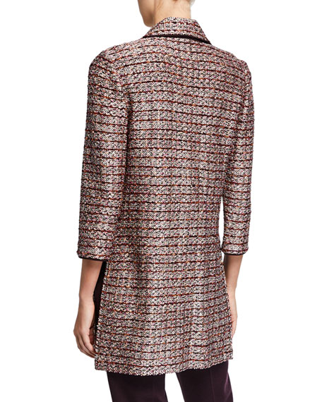 St. John Collection Textured Inlay Knit Topper Jacket