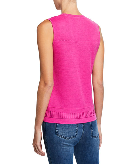 St. John Collection Pattern Knit Shell Top