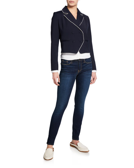 FRAME Le Skinny De Jeanne Mid-Rise Ankle Jeans