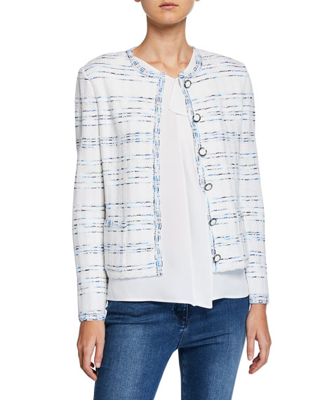 St. John Collection Pacific Space-Dye Tweed Knit Jacket