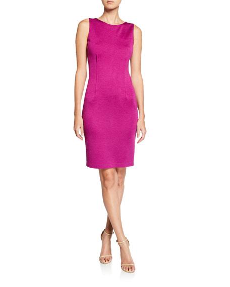 St. John Collection Milano Wool-Blend Pintuck Dress