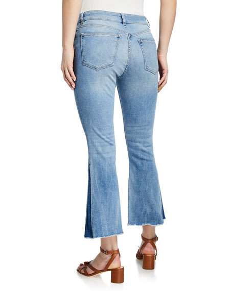 Image 2 of 3: DL1961 Premium Denim Bridget Mid-Rise Instasculpt Boot-Cut Jeans
