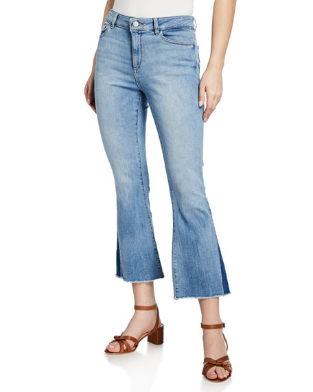 Image 1 of 3: DL1961 Premium Denim Bridget Mid-Rise Instasculpt Boot-Cut Jeans