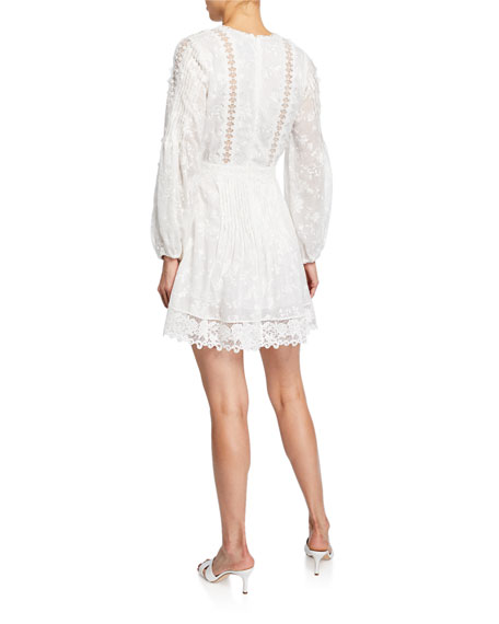Alexis Artemis Silk-Cotton Lace Short Dress