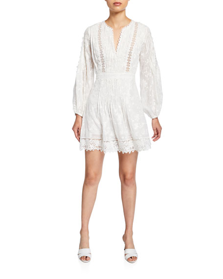 Alexis Artemis Silk-Cotton Lace Short Dress