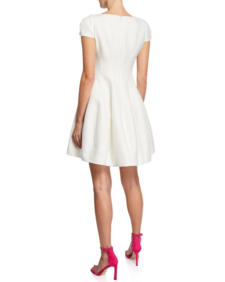 Halston Maggie Short Fit-&-Flare Dress
