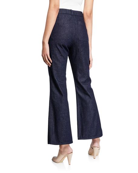 Tory Burch Cropped Flared-Leg Denim Jeans