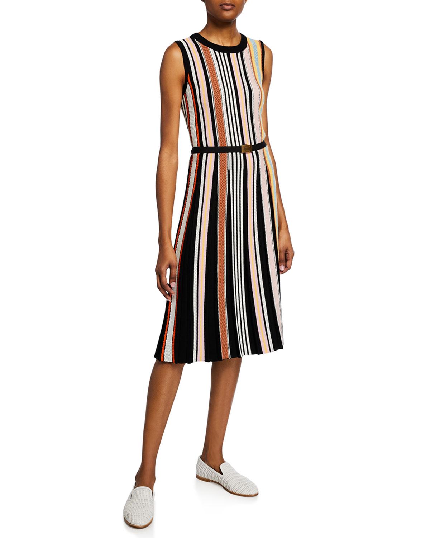 effd7a3cd22 Tory Burch Striped Sleeveless Sweaterdress