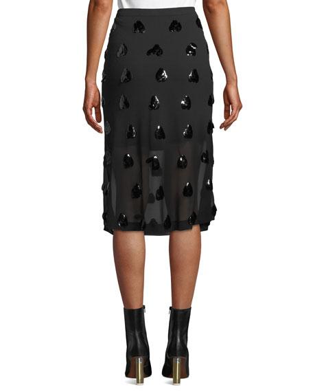 McQ Alexander McQueen Embellished Mini Illusion Skirt