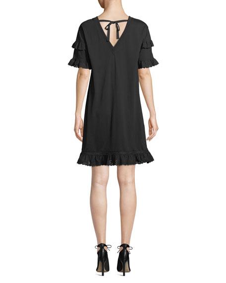 McQ Alexander McQueen Tiered Ruffle Sleeve Babydoll Dress