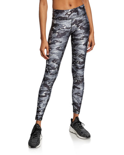 Foil-Print Camo Tall Band Legging