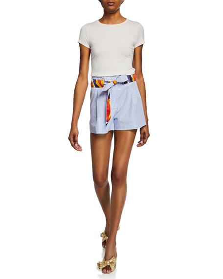 La Prestic Ouiston Mumbai Striped Tie Shorts
