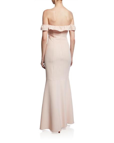 WAYF The Gabriella Strapless Trumpet Gown